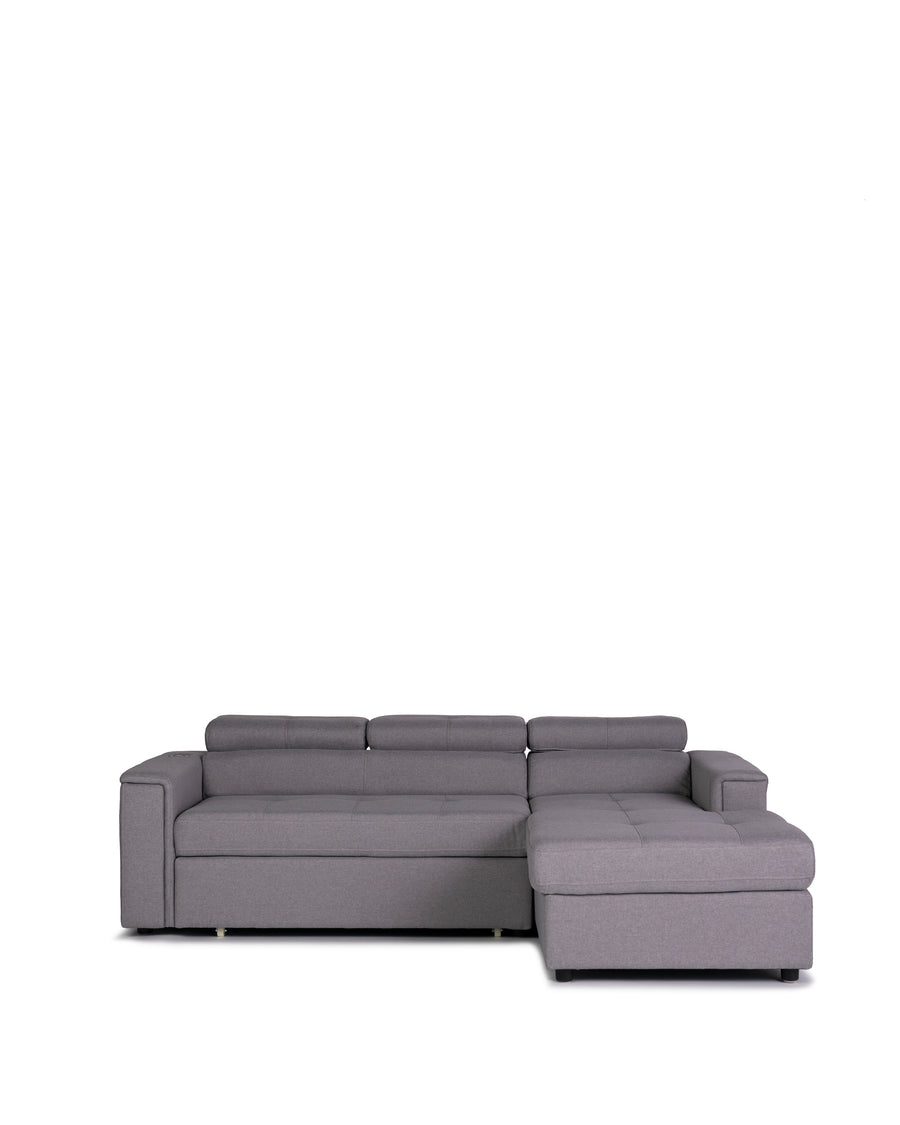 Sectional Sofabed With Built In Wireless Charger | Ezio | Front View | MoblerOnline