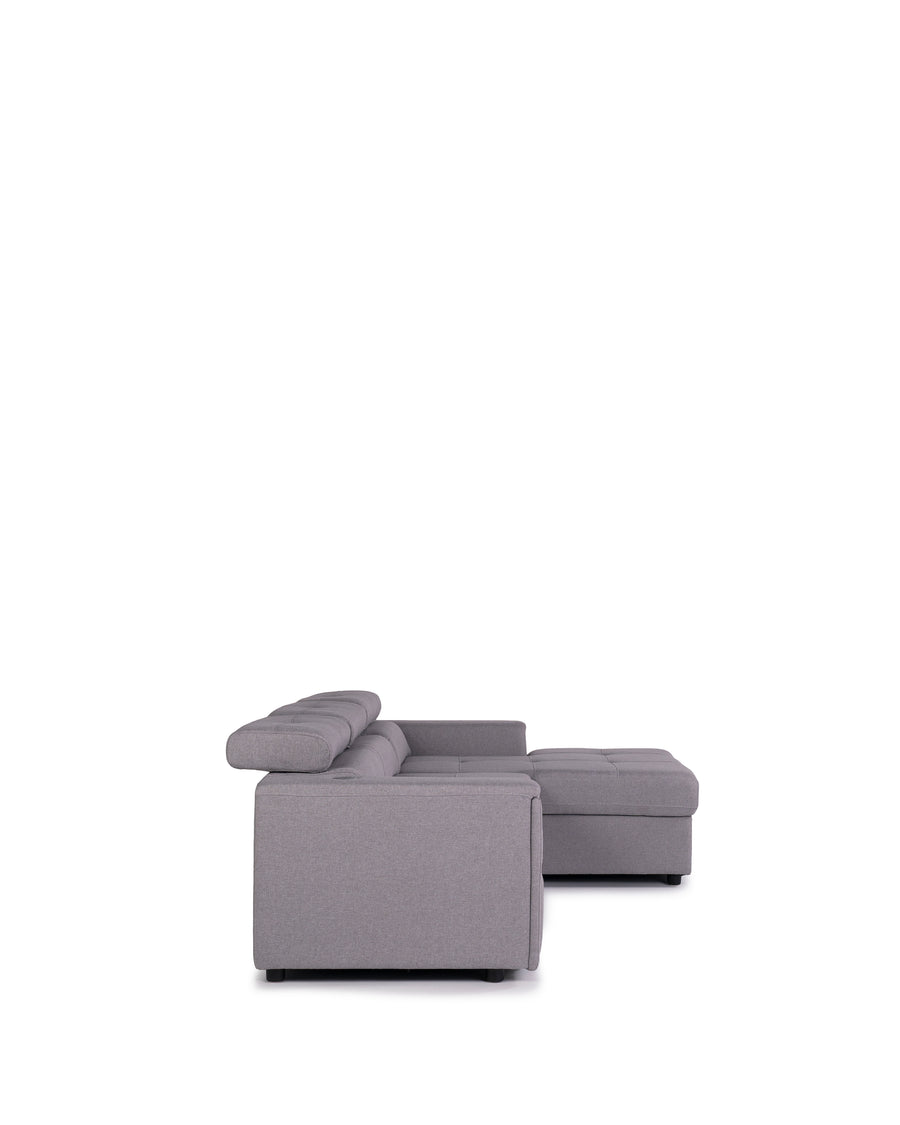 Sectional Sofabed With Built In Wireless Charger | Ezio | Side View | MoblerOnline