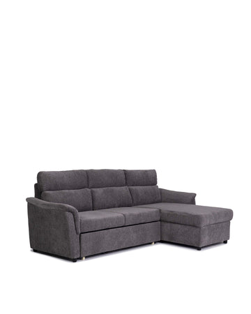 Condo Size Sectional Sofabed With Storage | Jacobi | Angle View | MoblerOnline