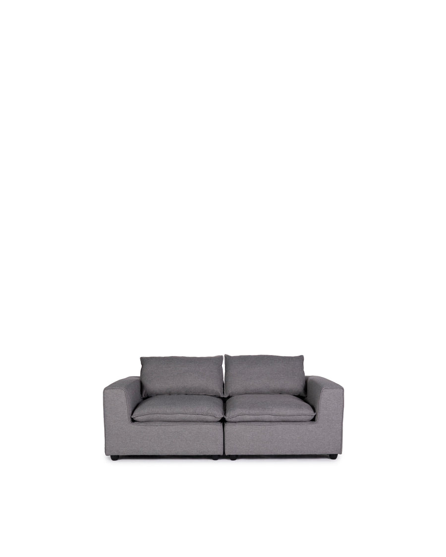 Modern Modular Loveseat | Messina | Front View | MoblerOnline