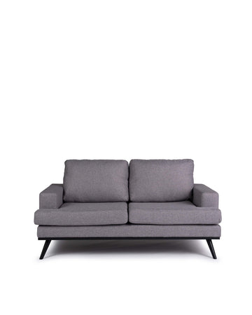 Light Grey Loveseat | Santorini | Front View | MoblerOnline