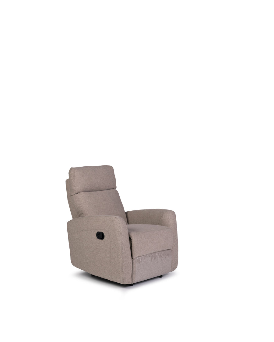 Recliner In Light Grey | Volta | Angle View | MoblerOnline
