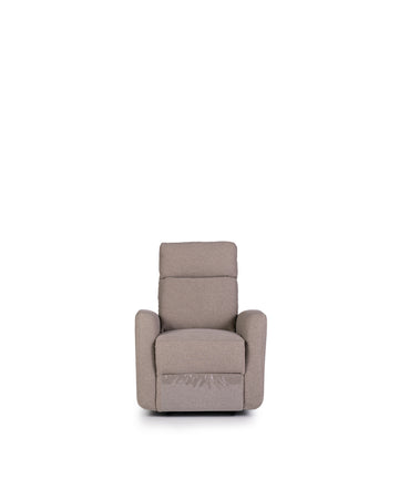 Recliner In Light Grey | Volta | Front View | MoblerOnline
