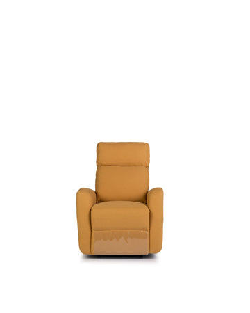 Recliner In Yellow | Volta | Front View | MoblerOnline
