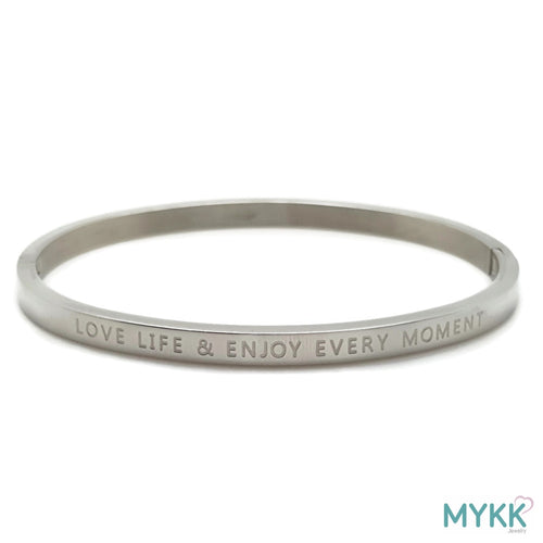 MYKK Jewelry | RVS armband - Bangle moment zilver