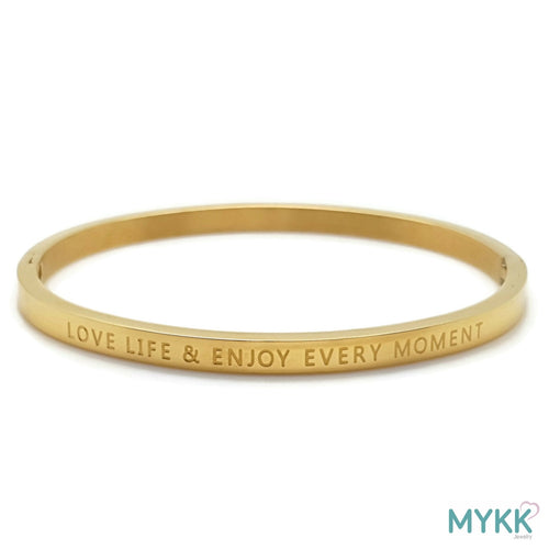 MYKK Jewelry | RVS armband - Bangle moment goud