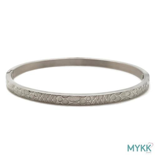 MYKK Jewelry | RVS armband - Bangle slang zilver