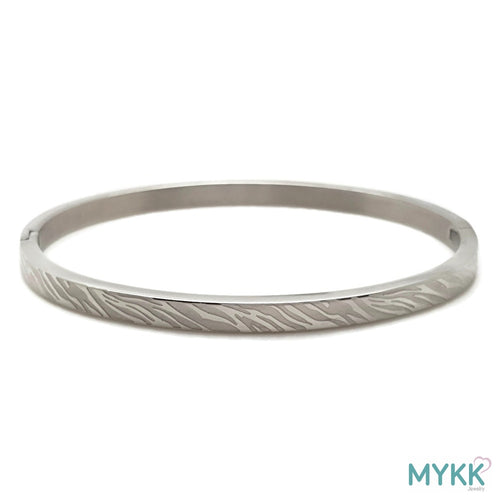MYKK Jewelry | RVS armband - Bangle zebra zilver