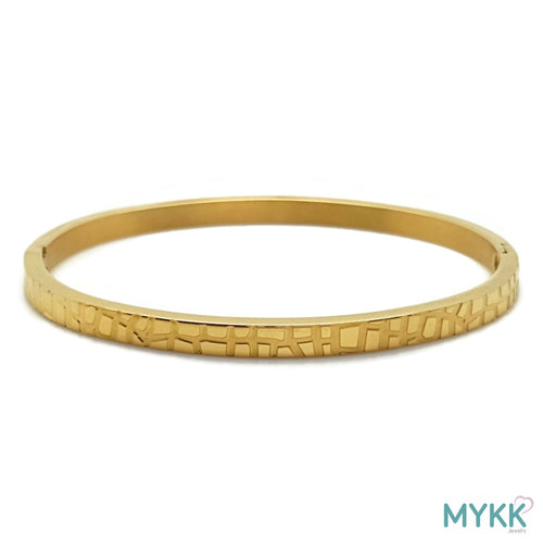 MYKK Jewelry | RVS armband - Bangle krokodil goud