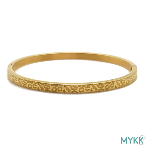MYKK Jewelry | RVS armband - Bangle panter goud