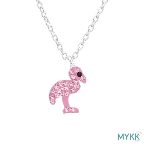 MYKK Jewelry | Kinder sieraden Zilveren kinderketting - Flamingo