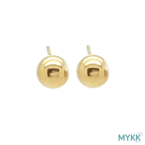 MYKK Jewelry | RVS oorbellen - Bolletje goud 5 mm