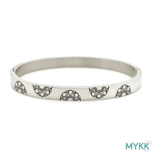 MYKK Jewelry | RVS Zeeuwse knop armband - RVS bangle zilver