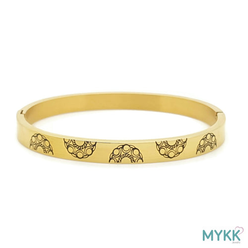 MYKK Jewelry | RVS Zeeuwse knop armband - RVS bangle goud