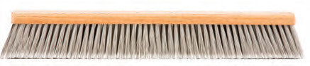 FLAGGED-TIP SILVER GREY PLASTIC FLEXSWEEP FLOOR BRUSH