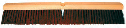 COARSE BROWN PLASTIC GARAGE FLOOR BRUSH