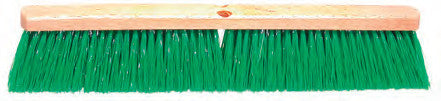 STIFF GREEN POLYPROPOLENE GARAGE FLOOR BRUSH