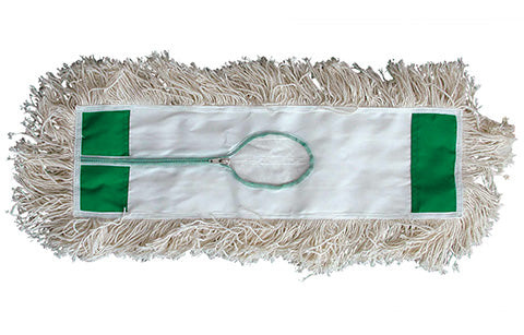 INDUSTRIAL GRADE LOOPED END WHITE COTTON DUST MOP