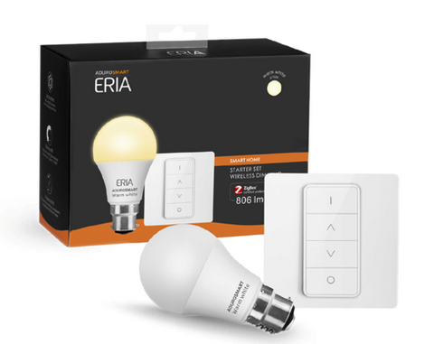 ERIA A60 9W | Smart Dimmable Warm White B22 Starter Pack