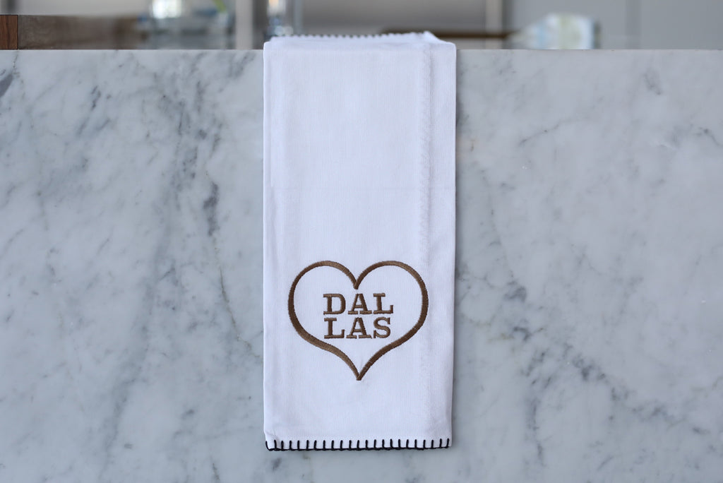 Dallas Heart Tea Towel