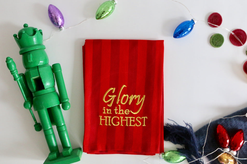 Glory In The Highest Tea Towel