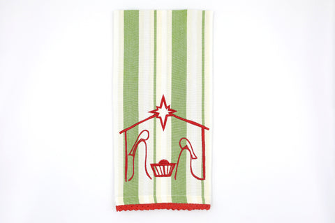 Manger Scene Tea Towel