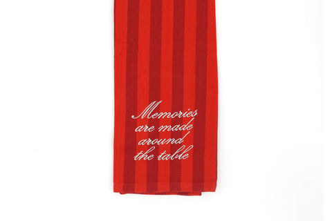 Memories Tea Towel in Red