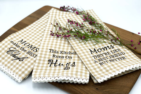 Moms Kitchen Tea Towel Trio