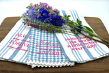 Mothers Tea Towel Trio in Sea