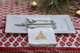 Golden Elegance Christmas Tree Napkins