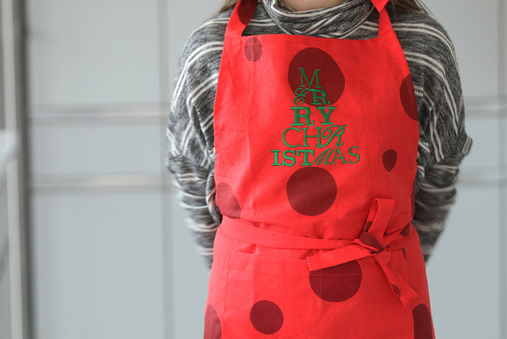 Merry Christmas Tree Apron