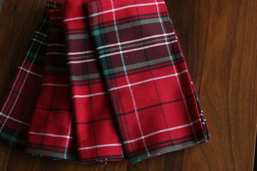 Christmas Plaid Napkin Set