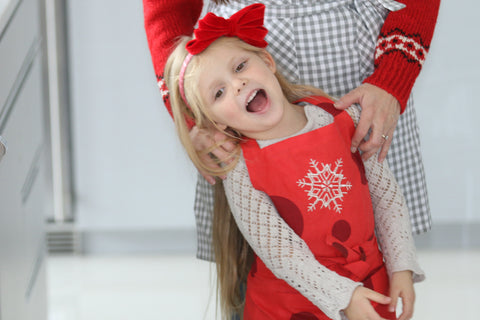 Red Snowflake Apron