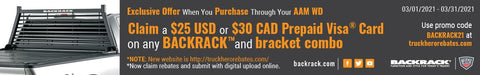 Back Rack Rebate and offers