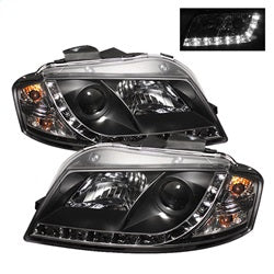 Spyder Auto 5008510 - Projector Headlights - Halogen - DRL - Black - High H1 - Low H7
