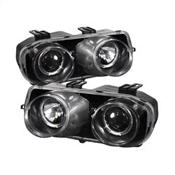 Spyder Auto 5008671 - Projector Headlights - LED Halo -Black - High H1 - Low 9006