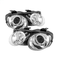 Spyder Auto 5008701 - Projector Headlights - LED Halo -Chrome - High H1 - Low 9006