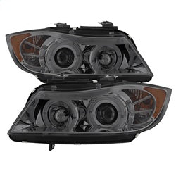Spyder Auto 5009029 - 4DR Projector Headlights - LED Halo - Amber Reflector - Eyebrow Bulb