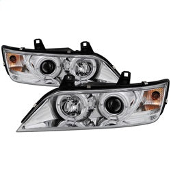 Spyder Auto 5009098 - Projector Headlights - LED Halo - Chrome - High H1 - Low H1