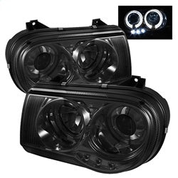 Spyder Auto 5009159 - Projector Headlights - LED Halo - LED - Smoke - High H1