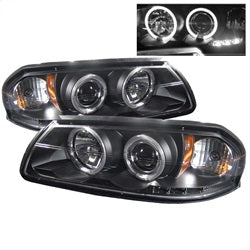Spyder Auto 5009401 - Projector Headlights - LED Halo - LED - Black - High H1 - Low H1