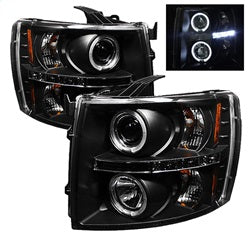 Spyder Auto 5009494 - Projector Headlights - LED Halo - LED - Black - High H1 - Low H1