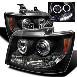 Spyder Auto 5009647 - Projector Headlights - LED Halo - LED - Black - High H1 - Low H1