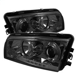 Spyder Auto 5009753 - Projector Headlights - Halogen - LED Halo - LED - Smoke - High H1
