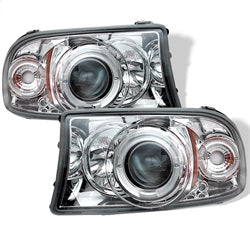 Spyder Auto 5009791 - 1PC Projector Headlights - LED Halo - LED - Chrome - High H1 - Low H1