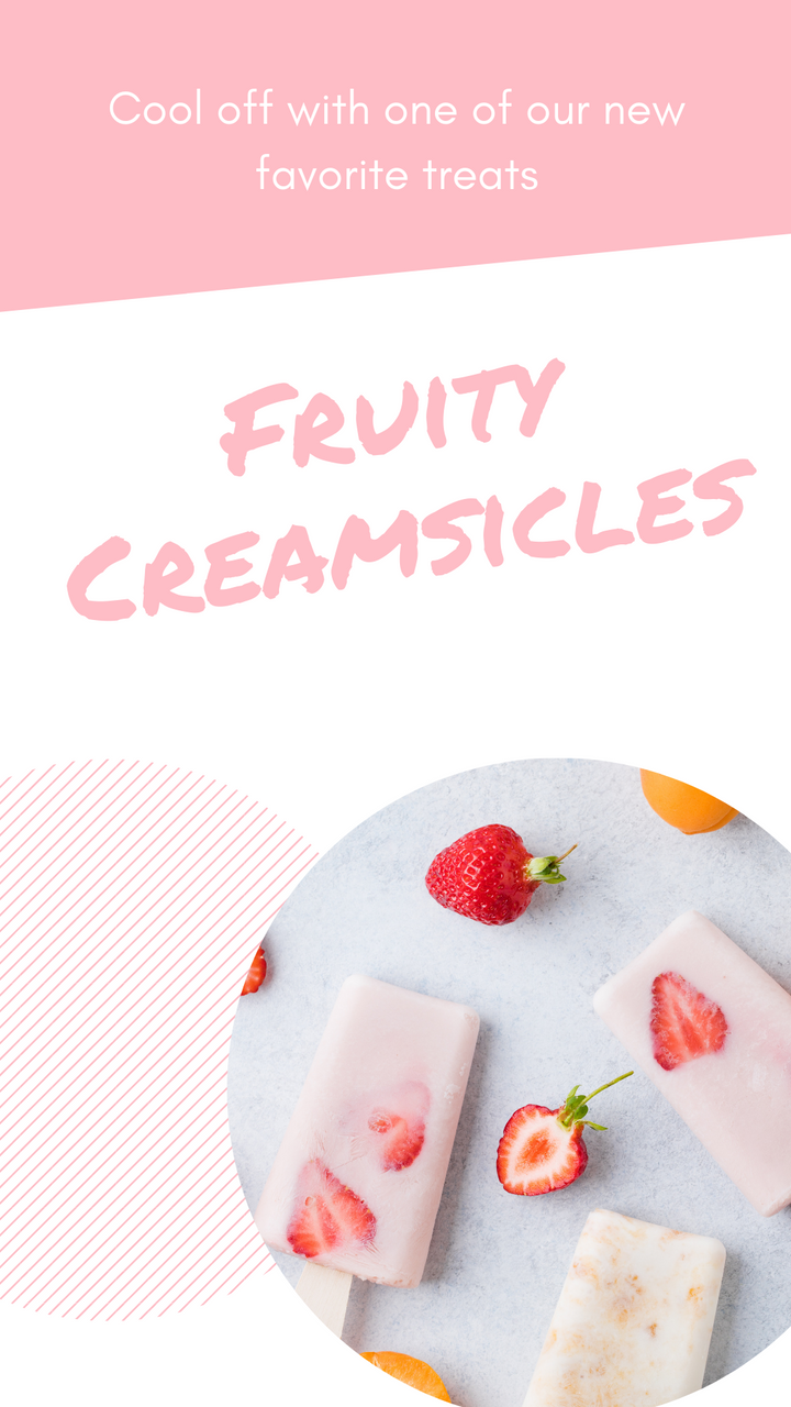 Easy Fruity Creamsicles