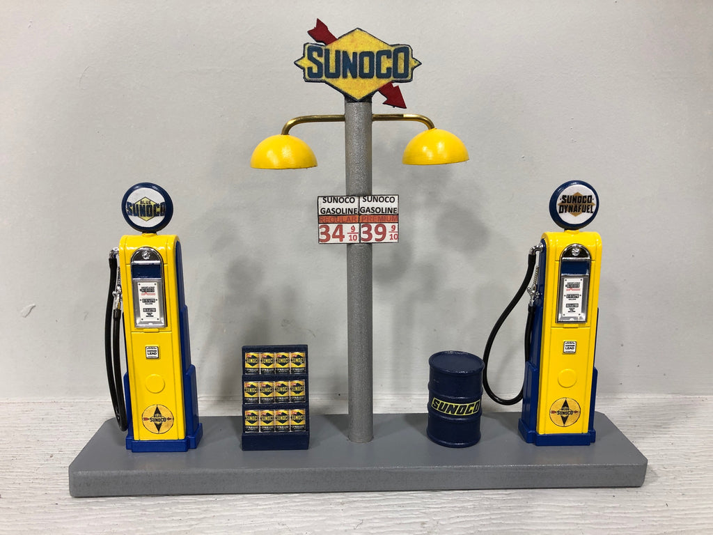 Sunoco Gas pump island