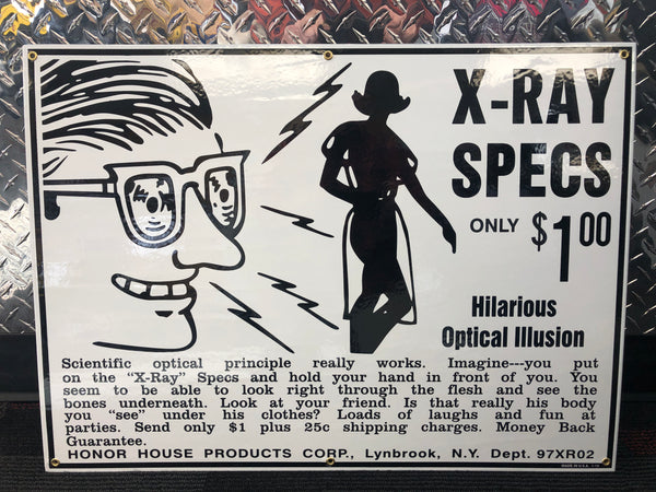 X-ray Specs Sign