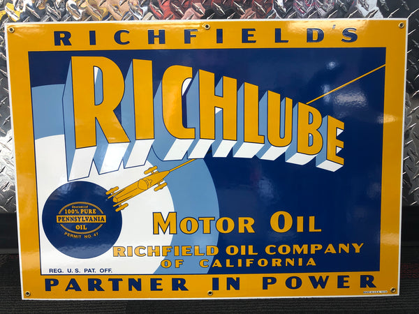 Richlube Oil Sign