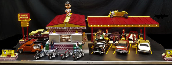 Bob's Drive in Diner - Light Up Diorama